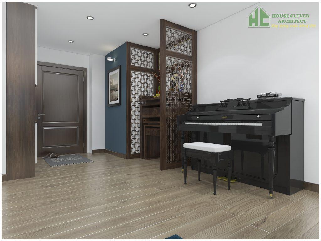 Thiết kế bàn thờ gia tiên ở nơi trang trọng của căn hộ chung cư
