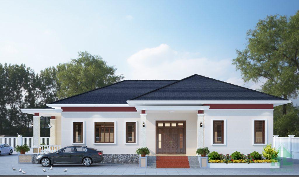 Mẫu thiết kế nhà 1 tầng hiện đại với kiến trúc mãn nhãn, tinh tế