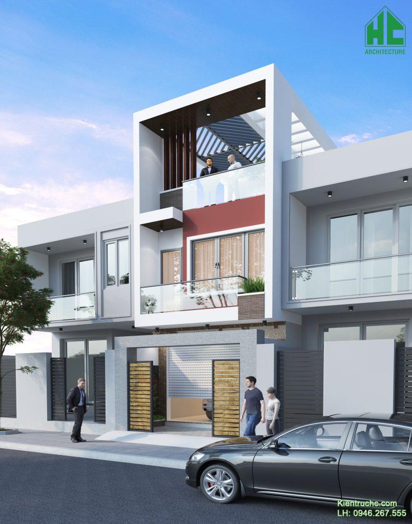 Mẫu thiết kế nhà phố với kiến trúc và hình khối độc đáo