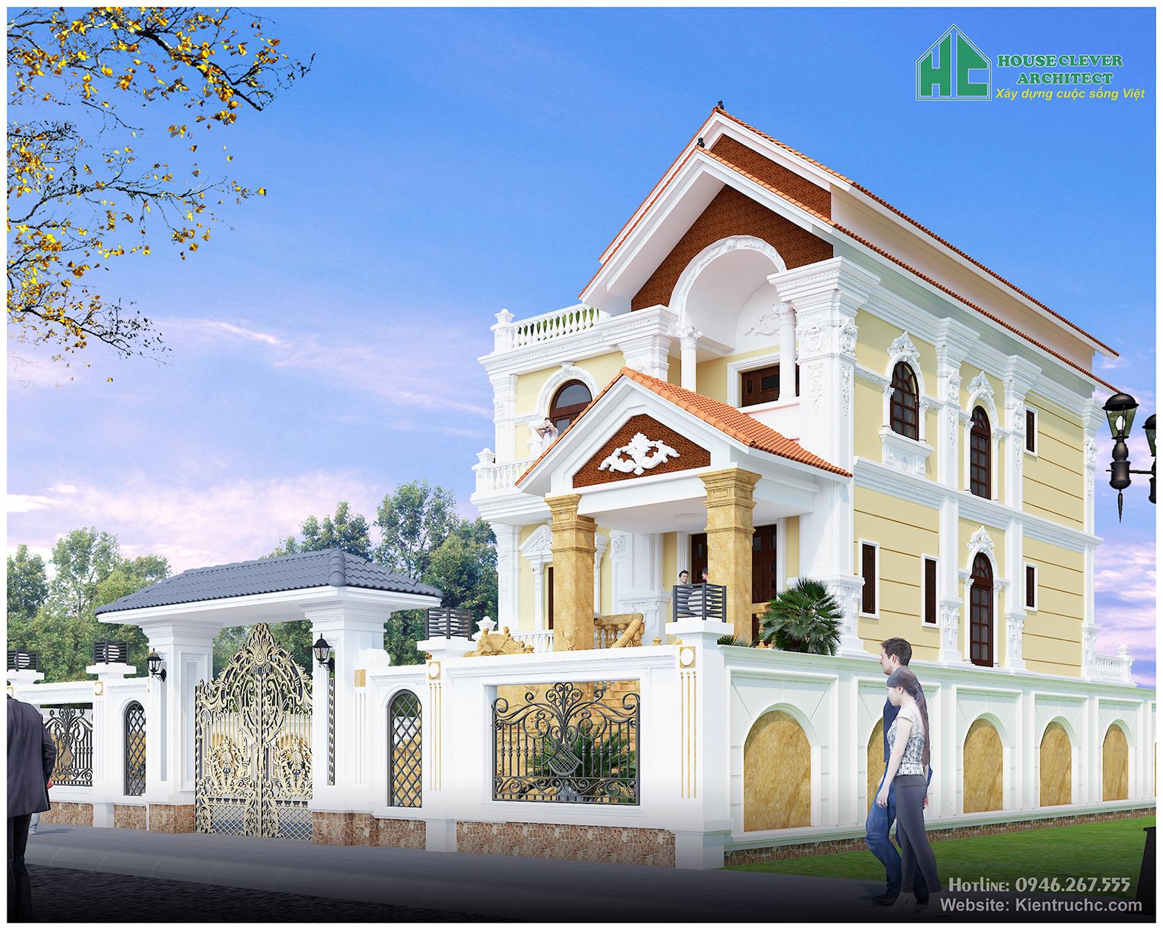 Thiết kế biệt thự nhà a Bắc thành phố Lào Cai