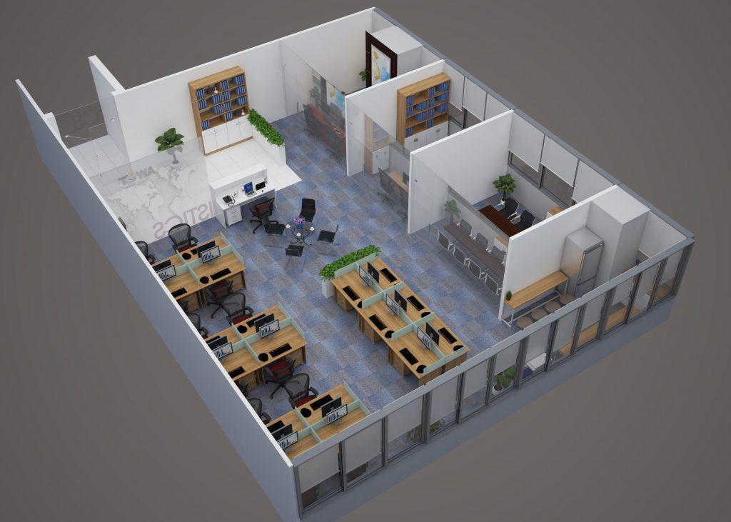 Thiết kế nội thất văn phòng với cách bố trí khoa học