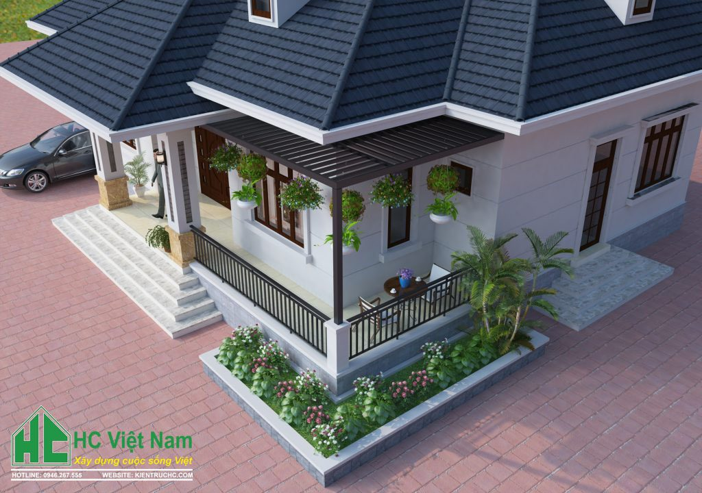 Mẫu thiết kế biệt thự vườn 1 tầng phong cách hiện đại đẹp