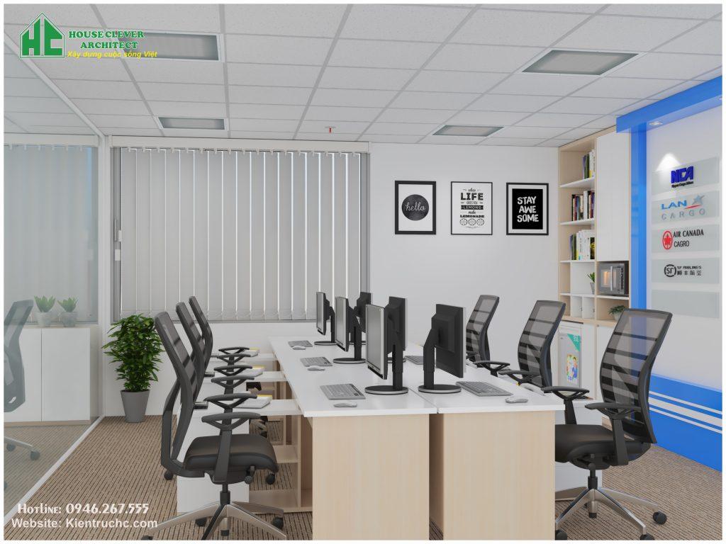 Thiết kế, thi công nội thất văn phòng - phòng nhân viên