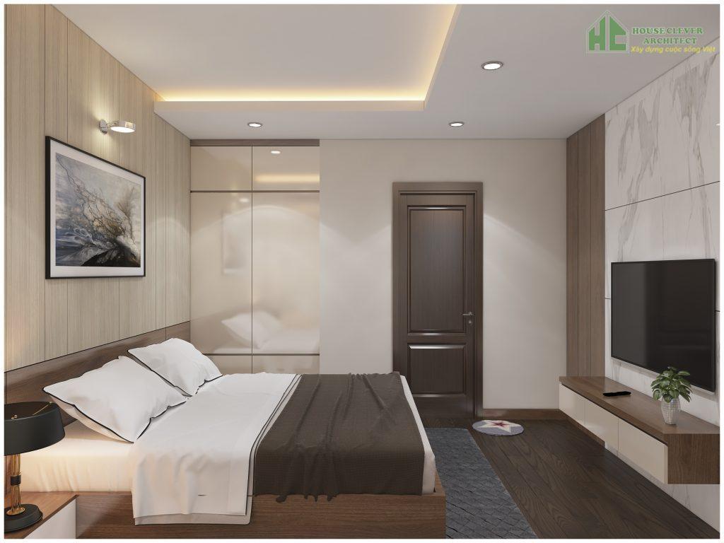 nội thất phòng ngủ chung cư đơn giản hiện đại