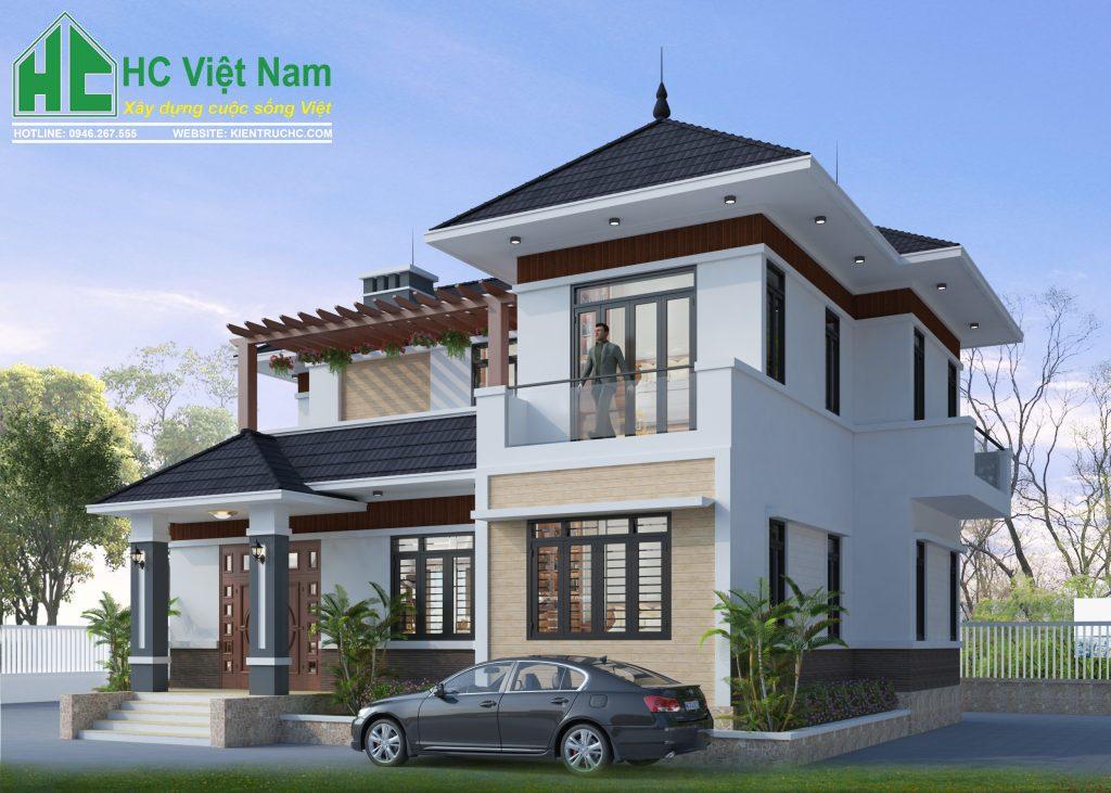 Thiết kế biệt thự hiện đại với kiến trúc ngoại thất đẹp tinh tế, sang trọng