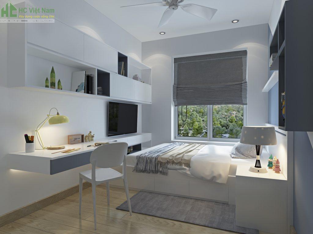 Thiết kế nội thất phòng ngủ con diện tích 20m2