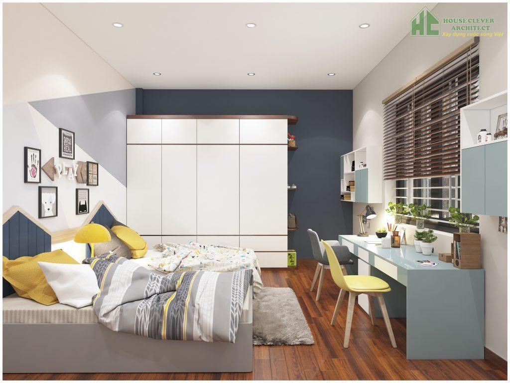 Không gian phòng ngủ con đầy năng động và sáng tạo
