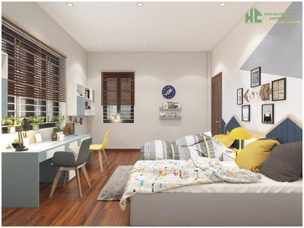 Thiết kế nội thất phòng ngủ con hiện đại, trẻ trung