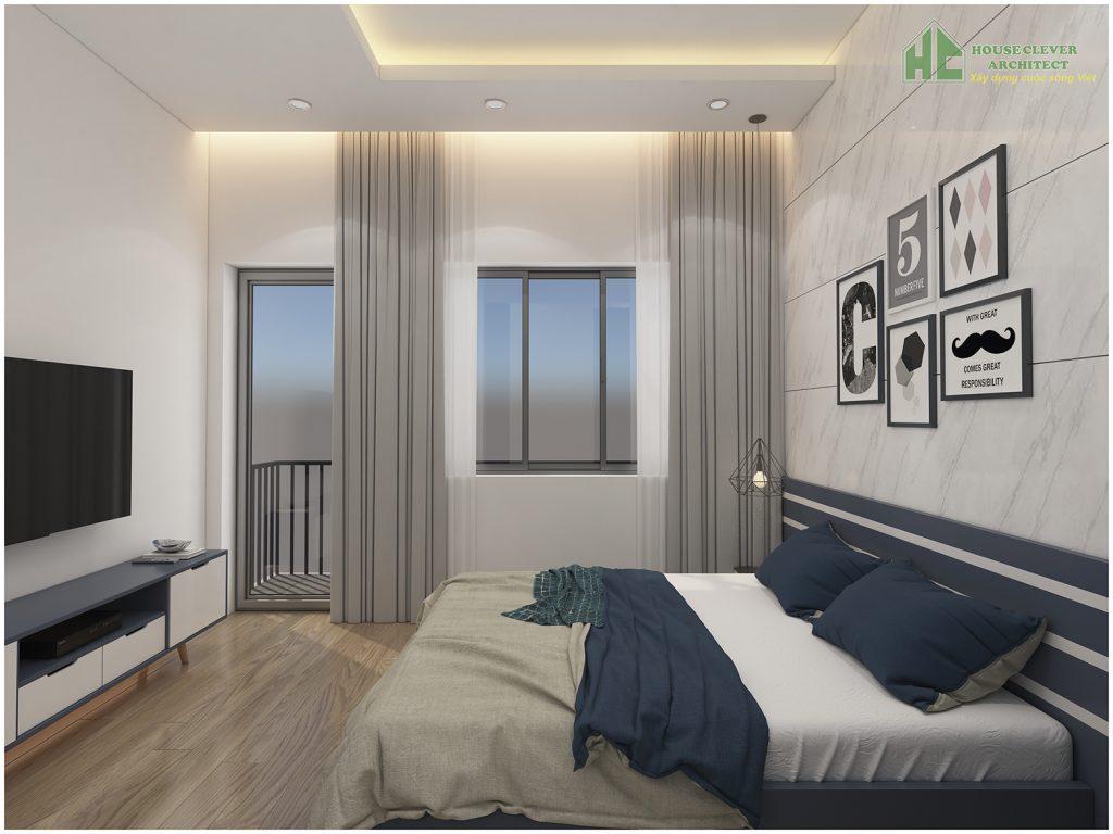 Thiết kế nội thất phòng ngủ bố mẹ đơn giản, hiện đại, trẻ trung