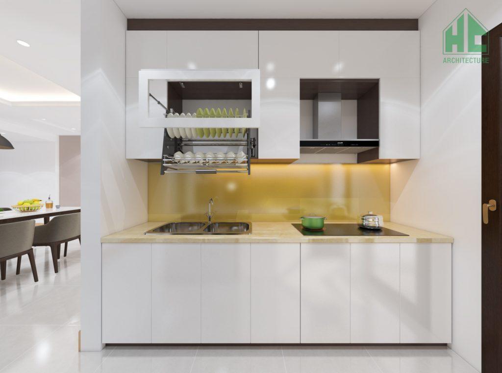 Thiết kế nội thất phòng bếp với tủ bếp chữ I