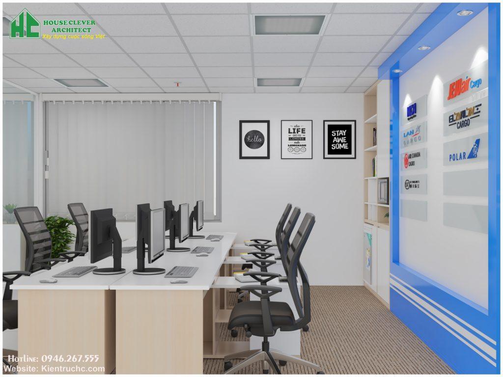 Thiết kế nội thất văn phòng phong cách hiện đại tối giản tạo sự thoải mái