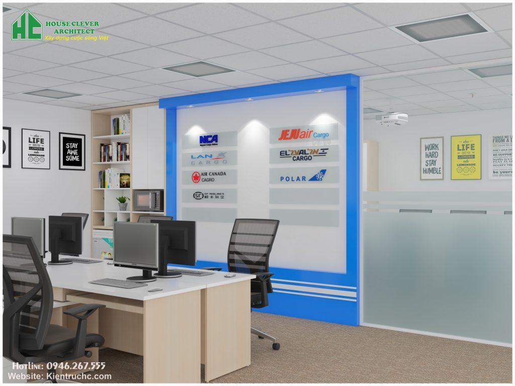 Thiết kế & thi công nội thất văn phòng nhẹ nhàng, không gian thoải mái