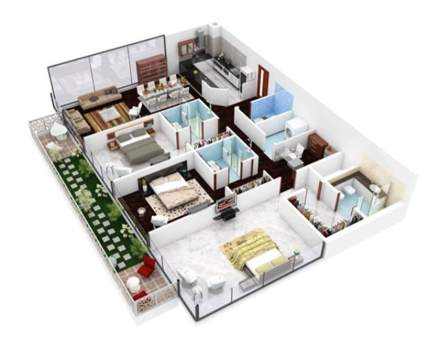 Thiết kế nội thất chung cư 3 phòng ngủ