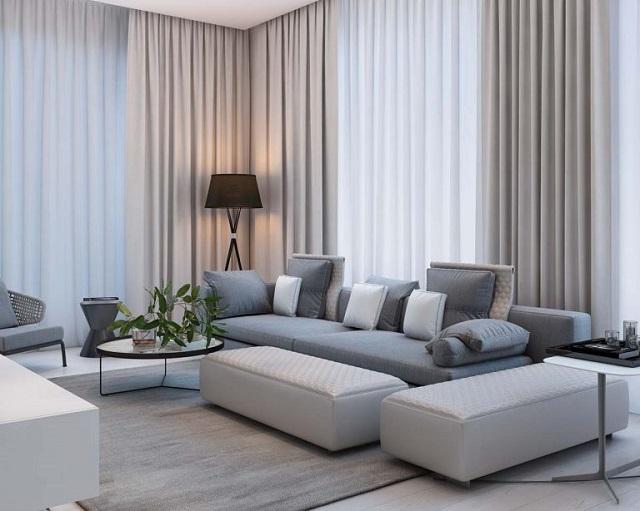 phòng khách căn hộ chung cư 70m2