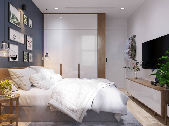 thiết kế nội thất căn hộ 65m2 2 phòng ngủ