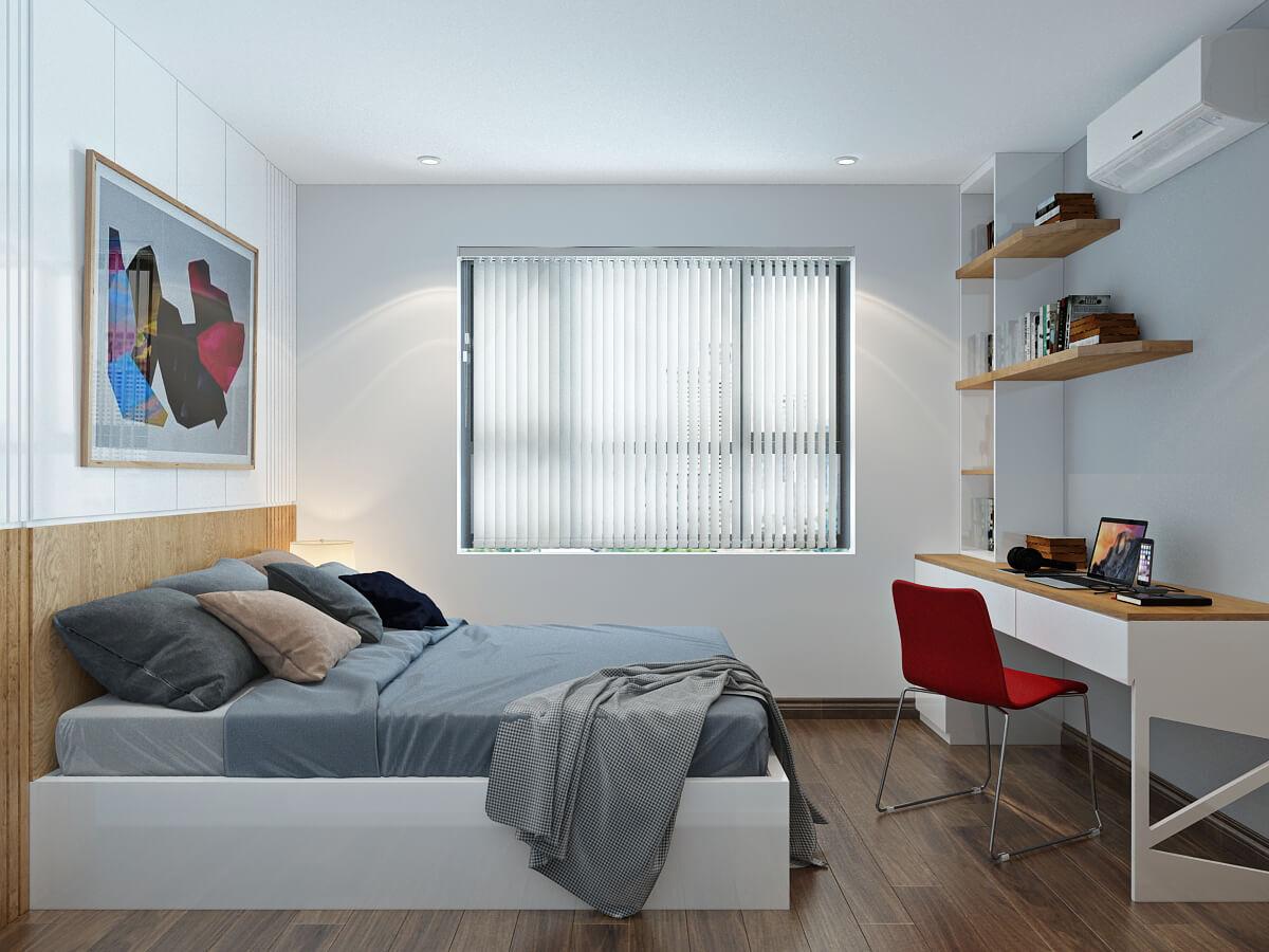 Thiết kế căn hộ 80m2 2 phòng ngủ