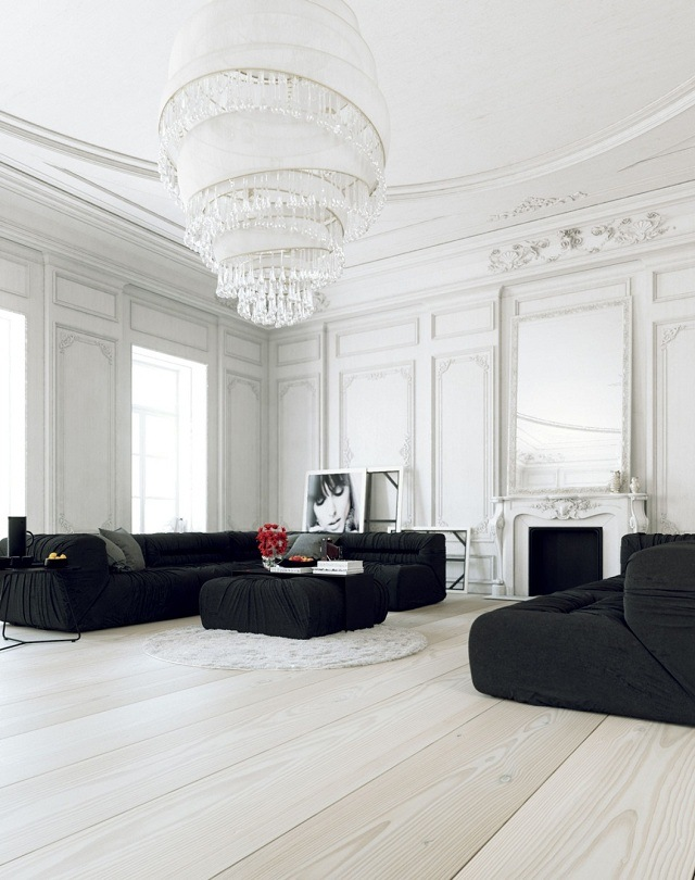 phòng khách màu trắng 14