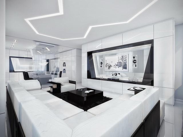 phòng khách màu trắng 18