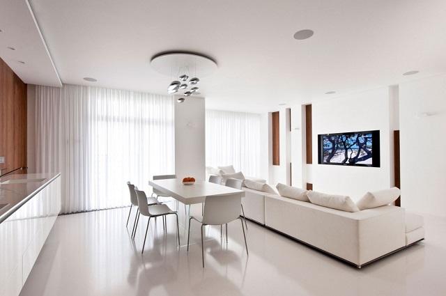 phòng khách màu trắng 24