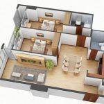34 Mẫu thiết kế nội thất chung cư 2 phòng ngủ đẹp + đơn giản