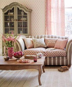 trang trí phòng khách màu hồng 4