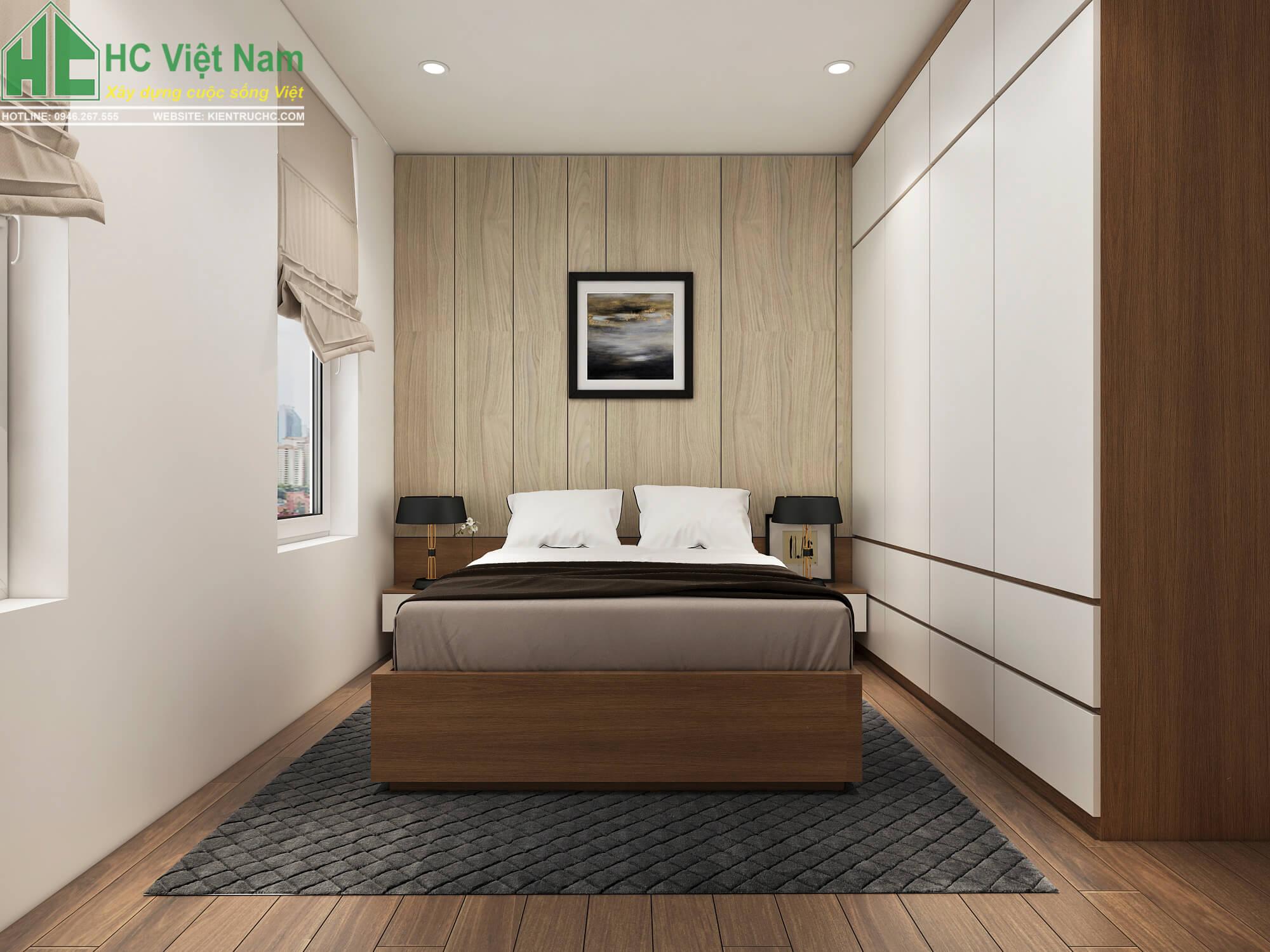 Thiết kế nội thất phòng ngủ tầng 2