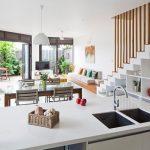 10 Mẫu thiết kế phòng khách và phòng bếp thông nhau (ĐẸP)
