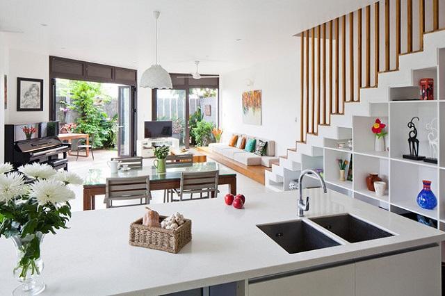Những lưu ý quan trọng khi thiết kế phòng khách và phòng bếp thông nhau là gì?