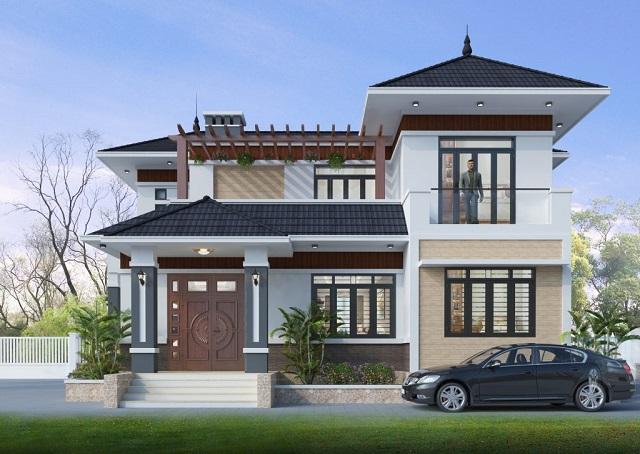 Mẫu thiết kế phong cách cổ điển kết hợp hiện đại.