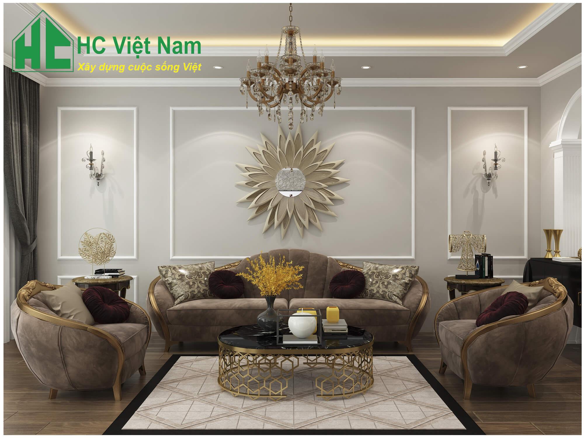 Phong cách thiết kế nội thất tân cổ điển 2