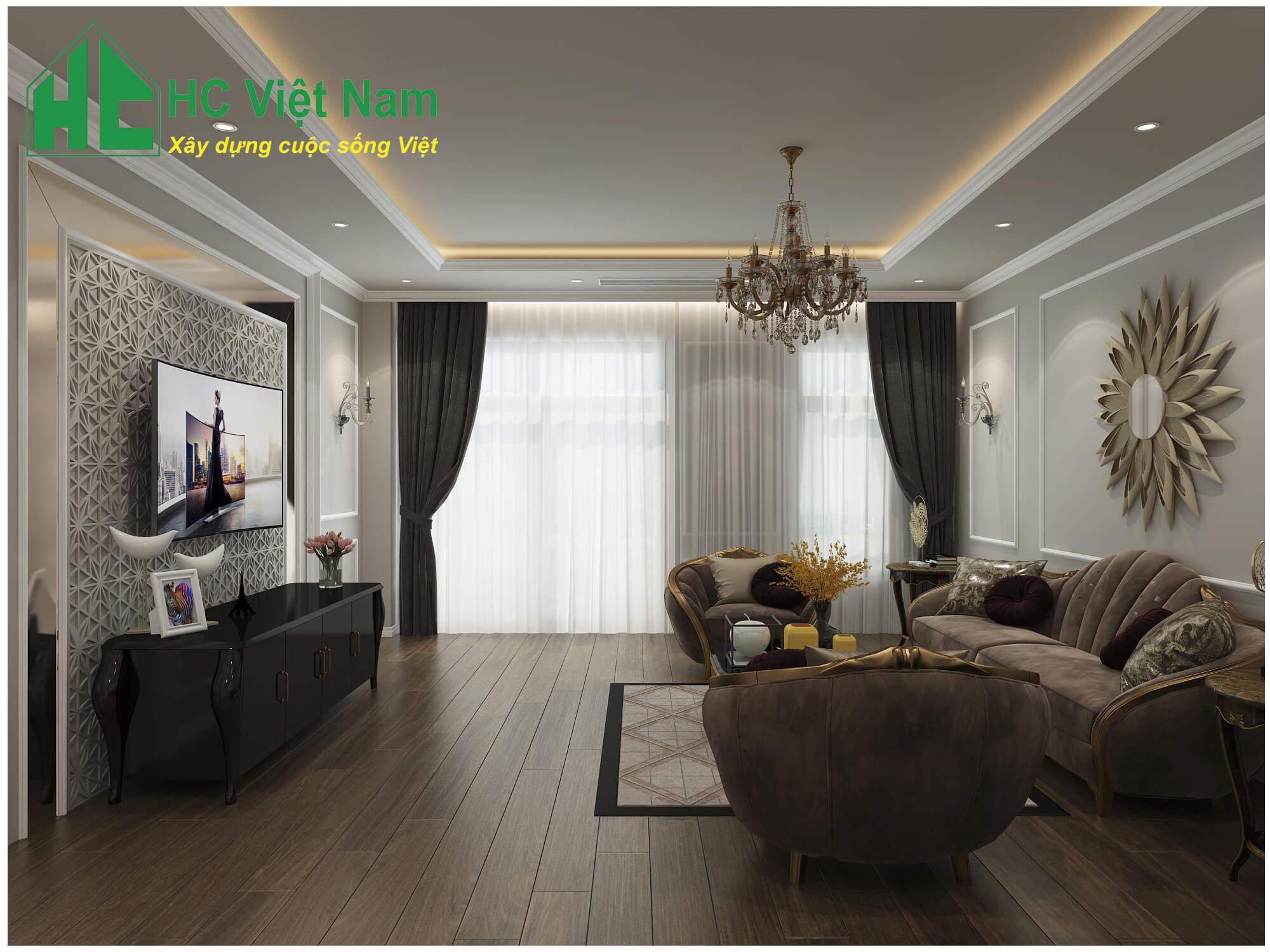 Phong cách thiết kế nội thất tân cổ điển 3