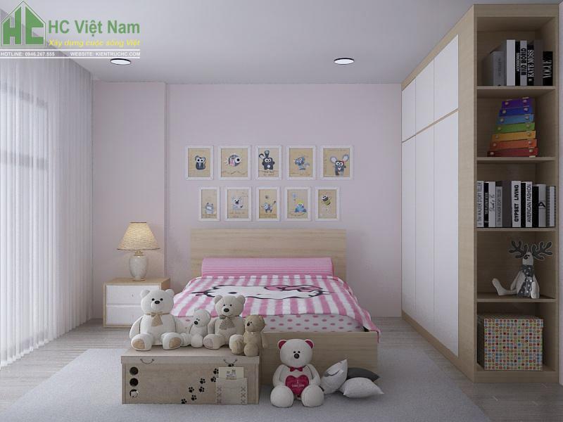 thiết kế nội thất phòng ngủ con