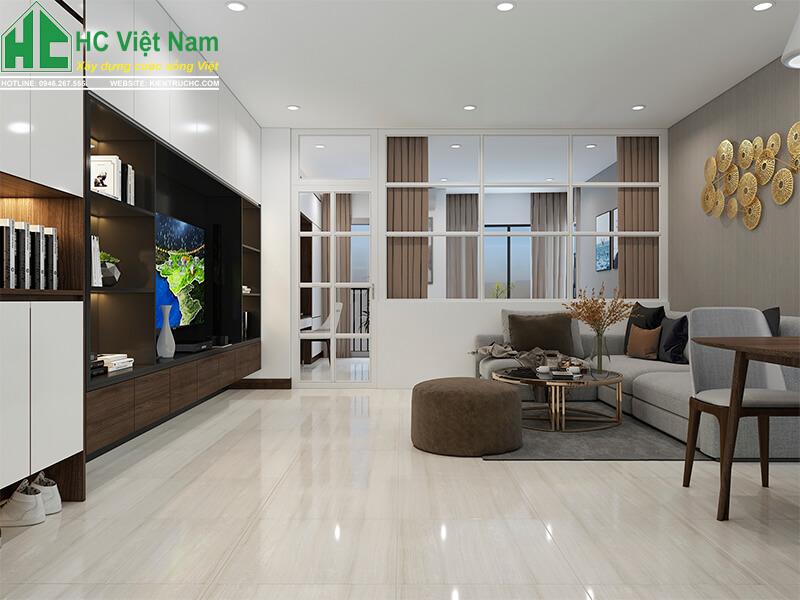 thiết kế nội thất phòng khách 9