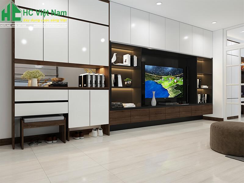 thiết kế nội thất phòng khách 10
