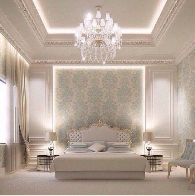 Giấy dán tường kết hợp nội thất tân cổ điển