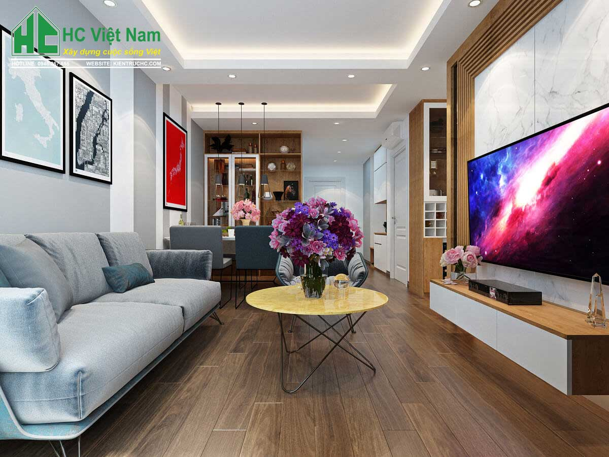 thiết kế nội thất phòng khách tại bắc ninh 4