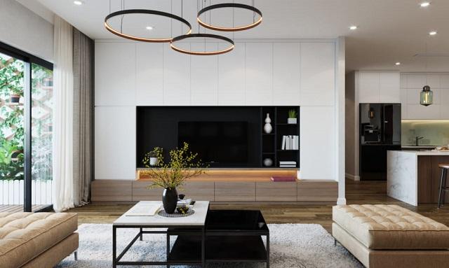 thiết kế nội thất phòng khách 12