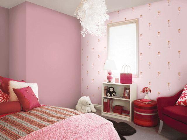 Phòng ngủ với màu hồng dễ thương