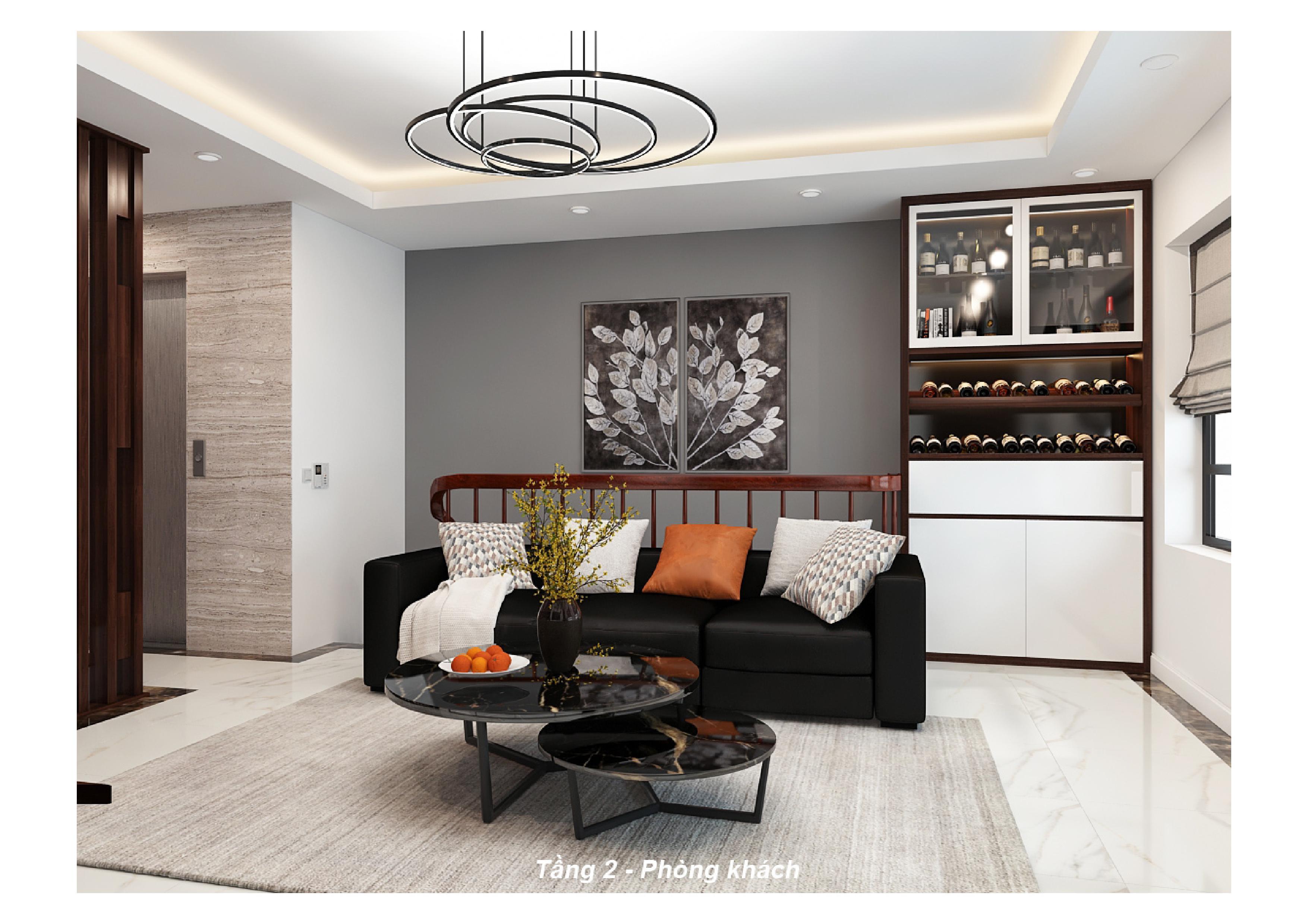 Thiết kế nội thất phòng khách nhà phố 1