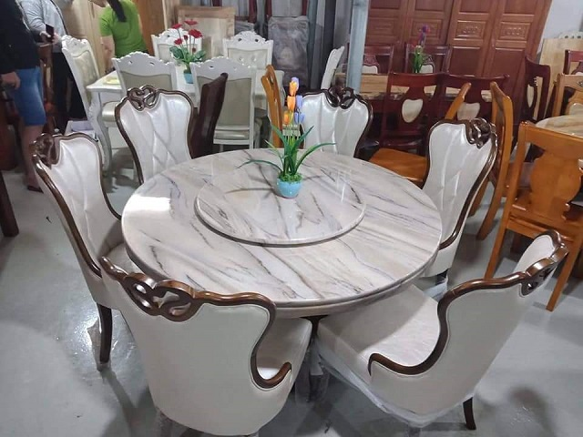 bàn ăn chung cư 6 ghế