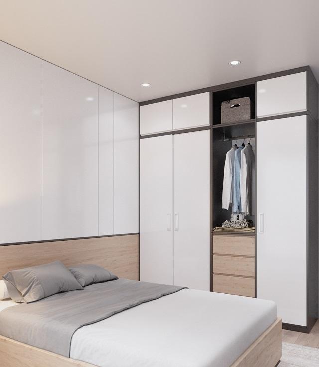 ...Hay phòng ngủ đều thiết kế theo tông màu sáng, tạo cảm giác thoáng đãng