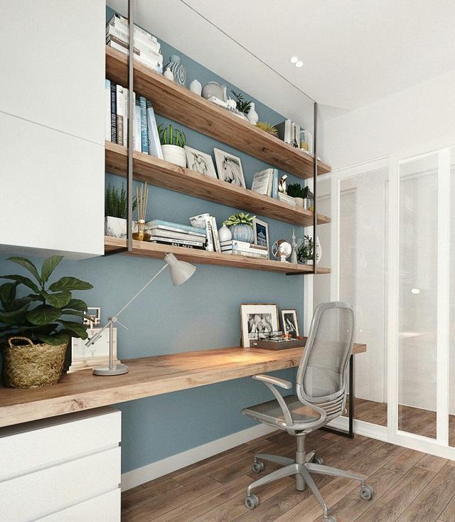 Phòng làm việc riêng rộng rãi, thoáng đãng tạo không gian sang trọng, tinh tế