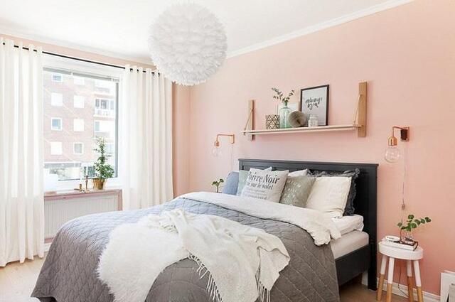 phòng ngủ có gam màu tươi sáng 6