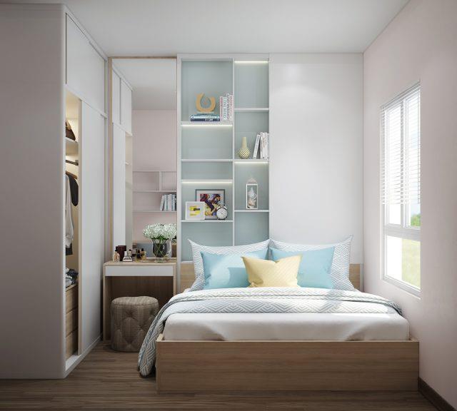 phòng ngủ có gam màu tươi sáng 1