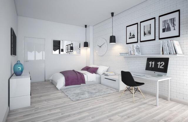 phòng ngủ có gam màu tươi sáng