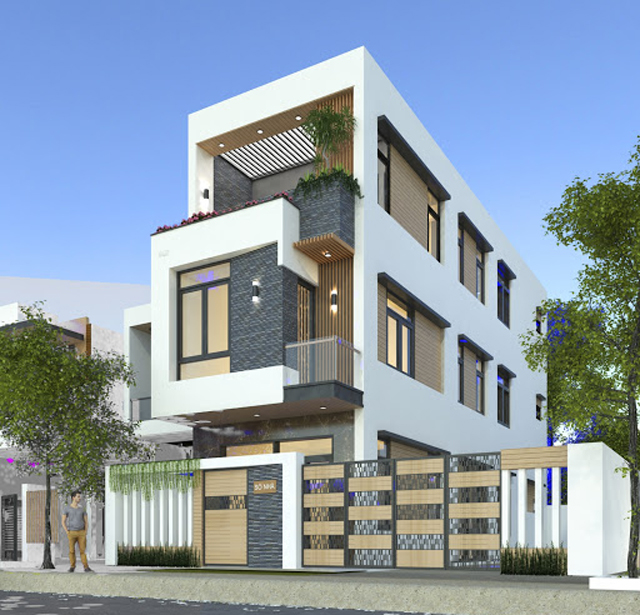 thiết kế ngoại thất nhà mặt phố