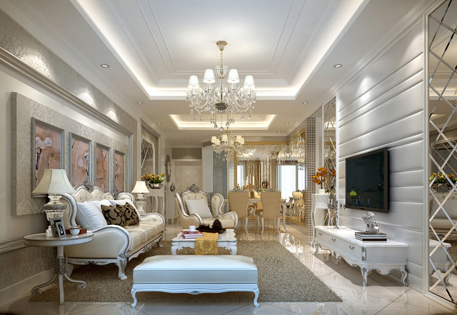 Phong cách thiết kế nội thất nhà phố tân cổ điển
