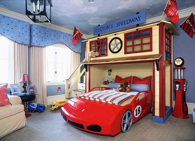 Phòng ngủ chung cư cho bé trai