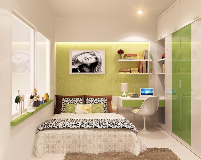 phòng ngủ Sơn màu nắng vàng