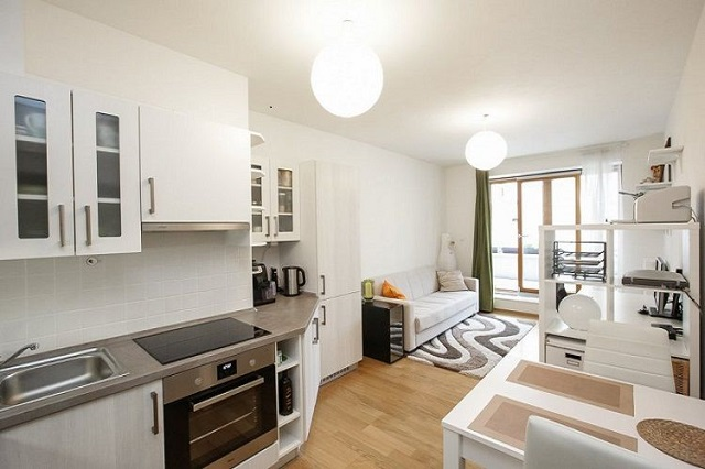 thiết kế căn hộ chung cư 50m2 có 2 phòng ngủ